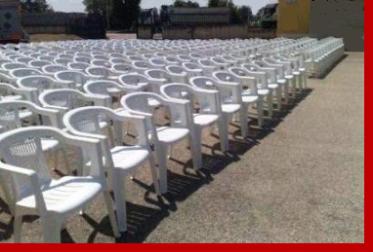 affitto sedie e tavoli lanciano